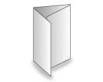 6-seitige Folder - Wickelfalz