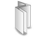12-seitige Folder - Doppelparallelfalz