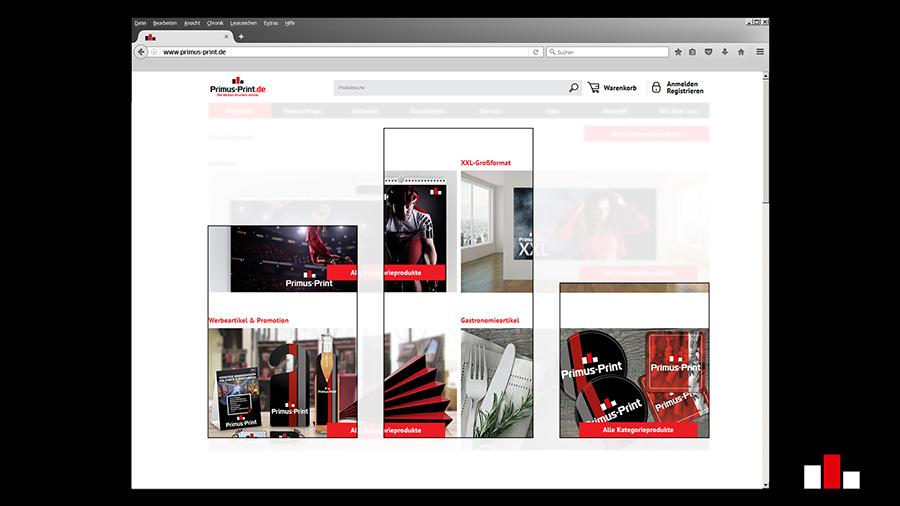 Online Druckerei neuer Online-Shop Primus Print